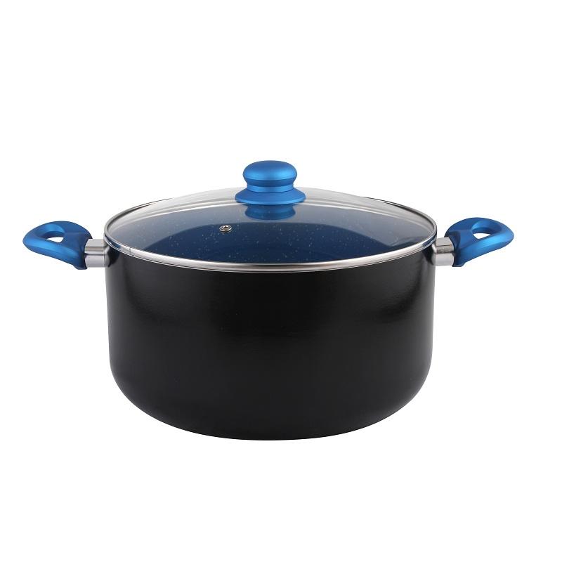 6pcs set blue stone non stick cookware frypan saucepan casserole induction ebay. Black Bedroom Furniture Sets. Home Design Ideas